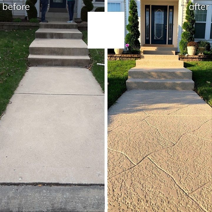 concrete walkway repair cincinnati