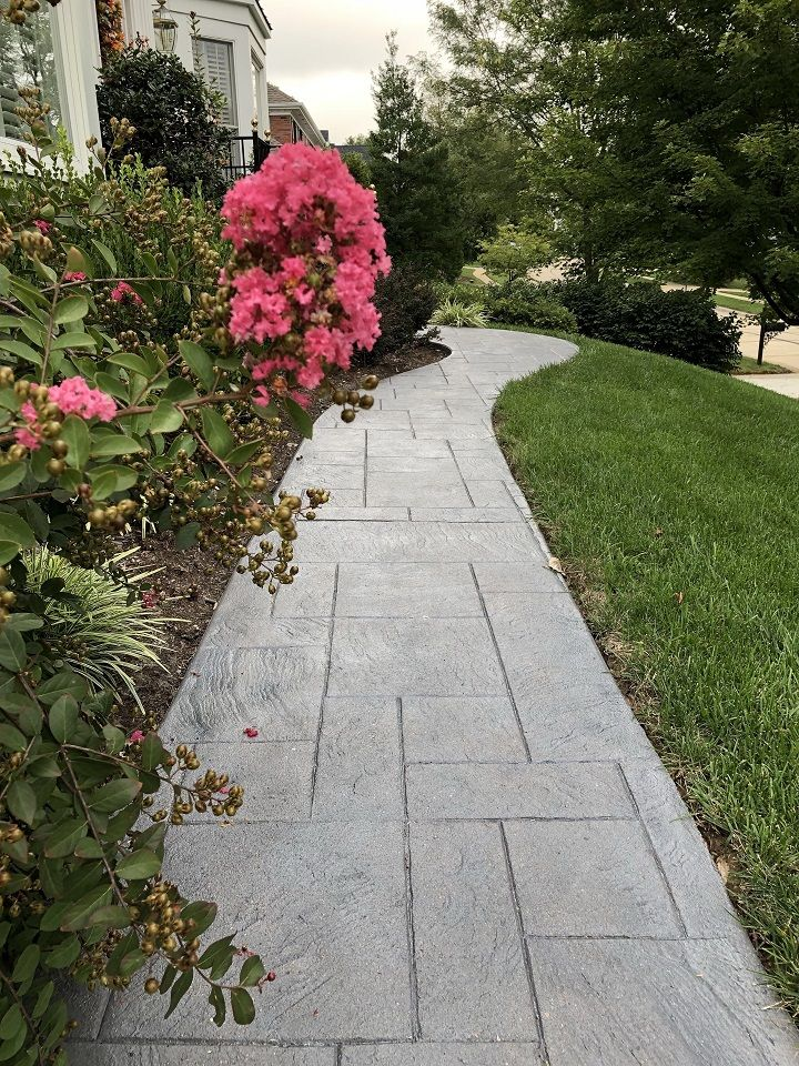 decorative concrete walkway cincinnati