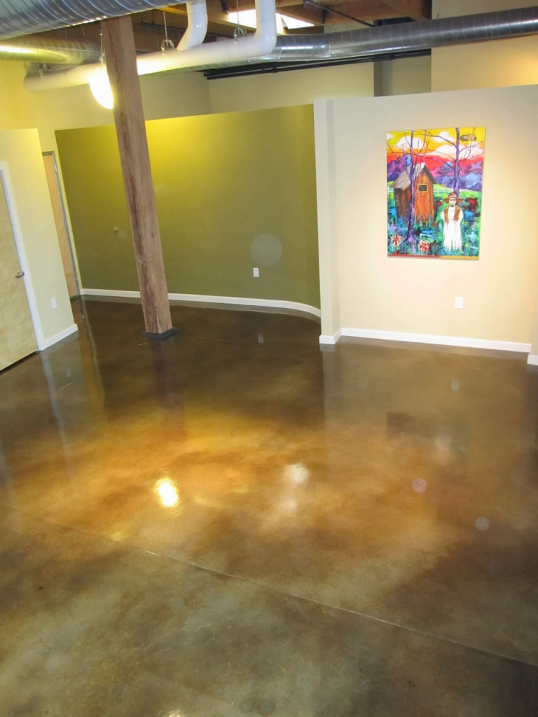 interior floor acid stain
