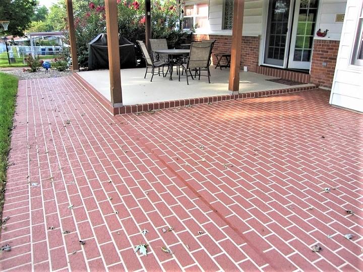 concrete patio stamped pattern cincinnati