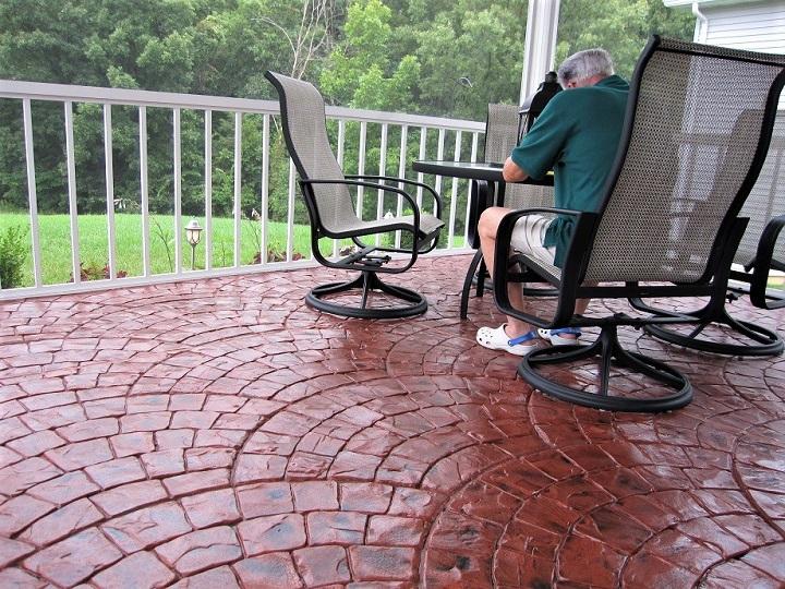 concrete patio stamping cincinnati