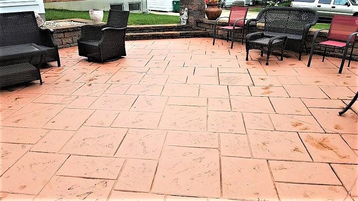 stamping concrete patio cincinnati