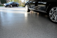 garage floor with epoxy finish