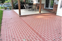 concrete patio stamped pattern cincinnati