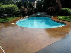 staining pool deck