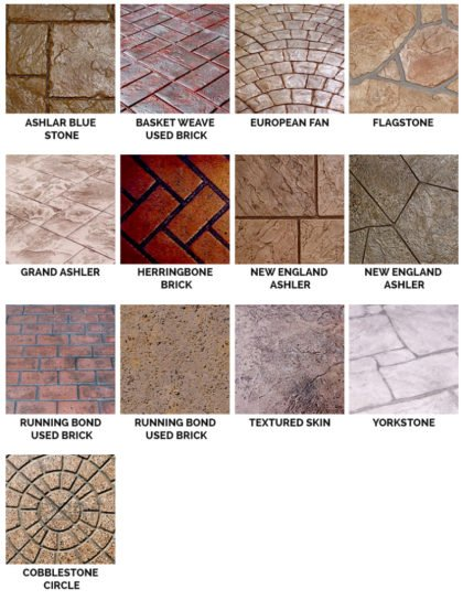 stamped overlay patterns