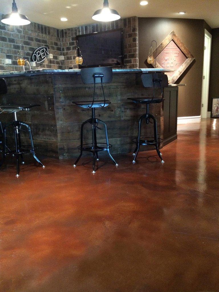 concrete floor acid stain