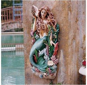 swimming pool wall sculpture