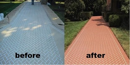 before and after concrete driveway repair cincinnati