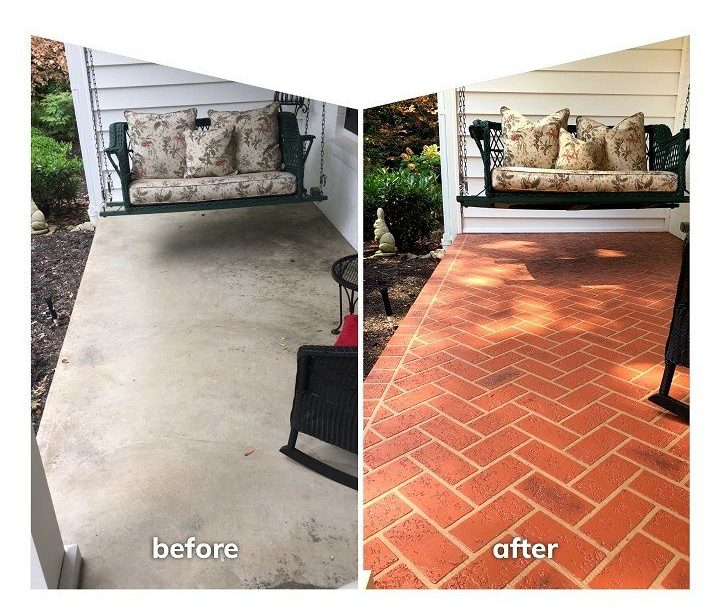 colored concrete patio cincinnati