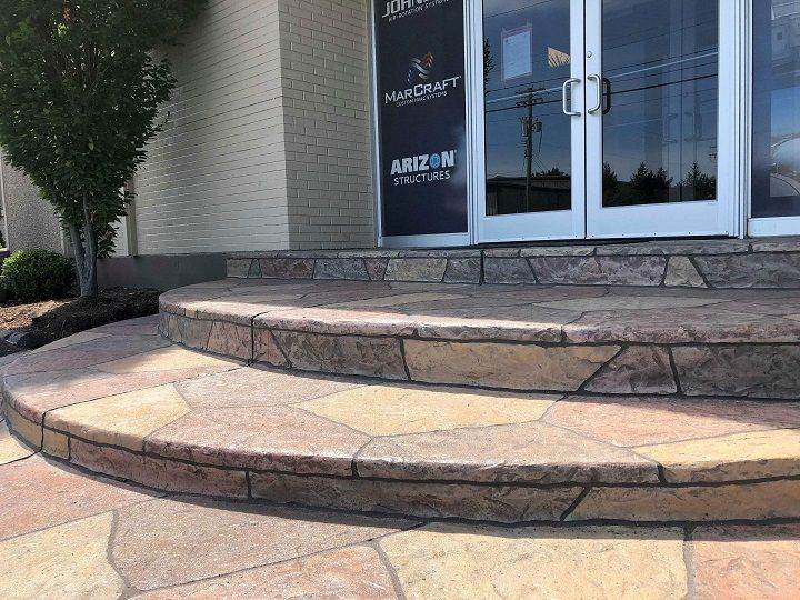 colored concrete patio installer cincinnati