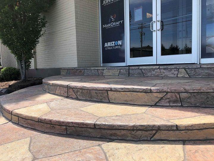colored concrete patio installer cincinnati
