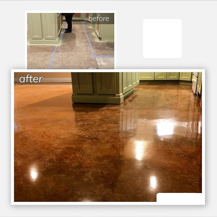 stained concrete floors cincinnati